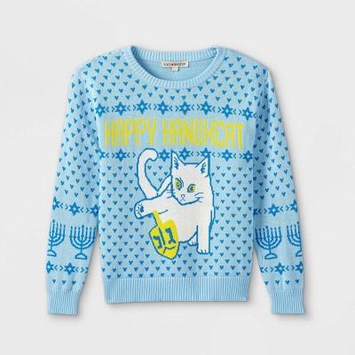 Girls' Hanukkah Pullover Sweater - Blue