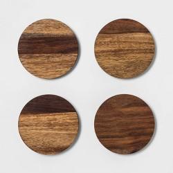 4pk Sheesham Wood Coasters Brown - Threshold™