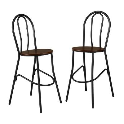 "Set of 2 30"" Zaid Wood Seat Café Barstools - Carolina Chair & Table"