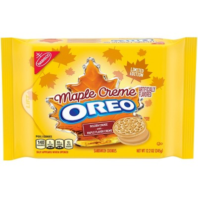 Oreo Maple Crème Sandwich Cookies - 12.2oz
