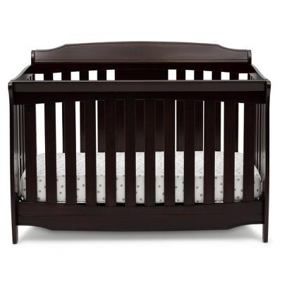 Delta Children Westminster 6-in-1 Convertible Baby Crib - Dark Chocolate
