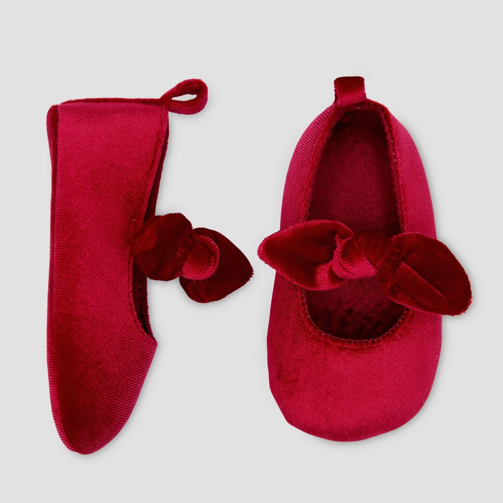 Image of Baby Girls' Mary Jane Bow Crib Shoes - Just One You made by carter's Pink 0-3M, Girl's, Size: Small