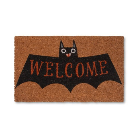Bat Doormat Black - image 1 of 2