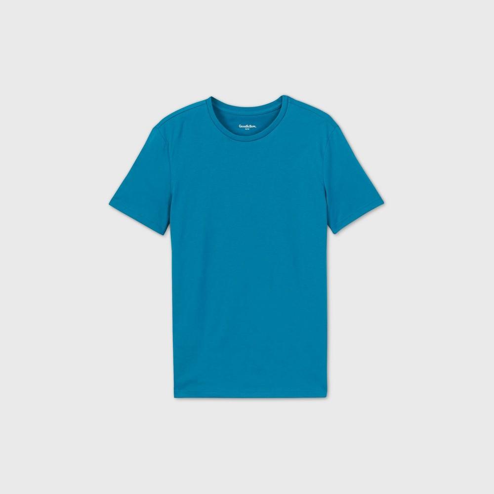 Men 39 S Regular Fit Crewneck T Shirt Goodfellow 38 Co 8482 Blue M