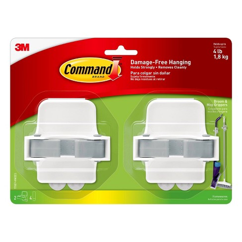 Command Broom & Mop Gripper 2 Grippers - 4 Strips/Pack - image 1 of 4