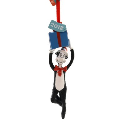 """Holiday Ornaments 5.25"""" Cat With A Present 2018 Dated Dr Seuss  -  Tree Ornaments"""