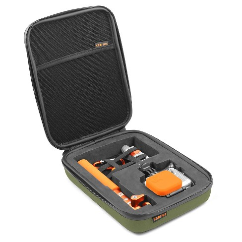 Xsories Small Capxule Soft Case With Pre-Cut Foam Inlay Compatible With All GoPro Camera Models - Olive Green - image 1 of 3