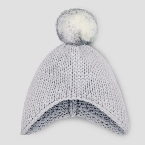Toddler Beanie With Faux Fur Pom - Cat   Jack™ Gray 2T-5T   Target 70c9506aadc