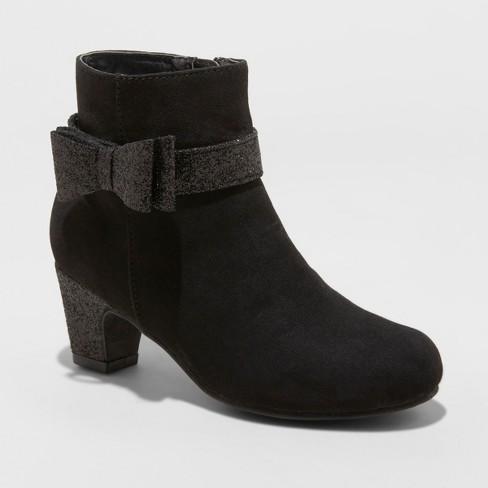 Girls' Flowers by Nina Tonia Fashion Boots - Cat & Jack™ Black 1 - image 1 of 3
