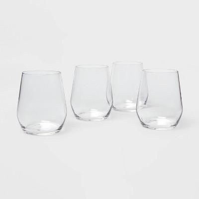 12oz 4pk Glass Atherton Stemless Wine Glasses - Threshold™