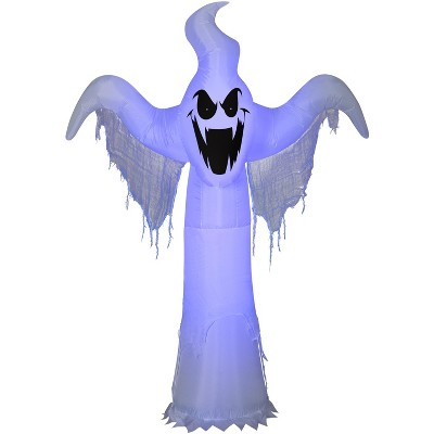 Gemmy Lightshow Airblown ShortCircuit Ghost OPP (Black Light), 6.5 ft Tall, white