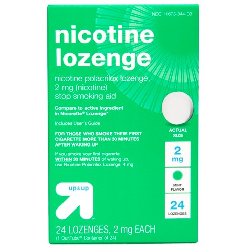 Nicotine 2mg Gum & Lozenges Stop Smoking Aid - Mint -24ct - Up&Up™ (Compare to active ingredient in Nicorette Lozenge) - image 1 of 4