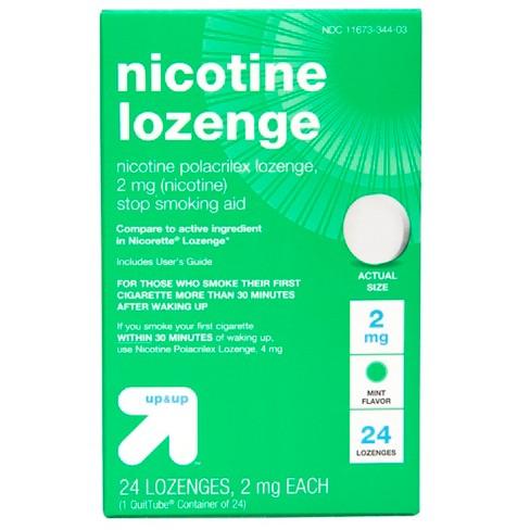 Nicotine 2mg Lozenge Stop Smoking Aid - Mint - Up&Up™ - image 1 of 4