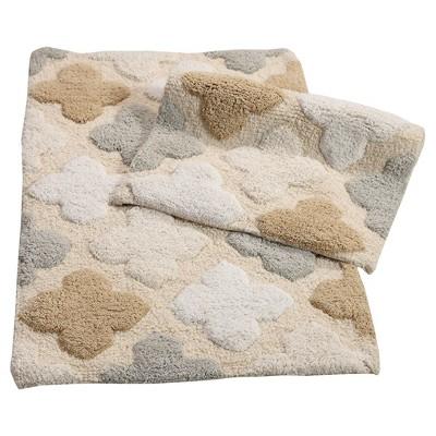 Alloy Moroccan Tiles 2 Piece Bath Rug Set Spa Beige - Chesapeake Merchandising Inc.