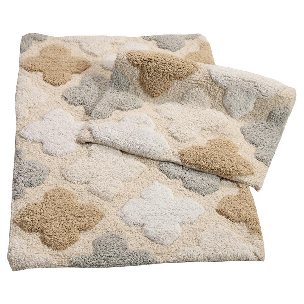 Image of Alloy Moroccan Tiles 2 Piece Bath Rug Set Spa Beige - Chesapeake Merchandising Inc.