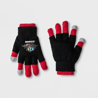 Boys Harry Potter 2 in 1 Gloves - Black/Red One Size