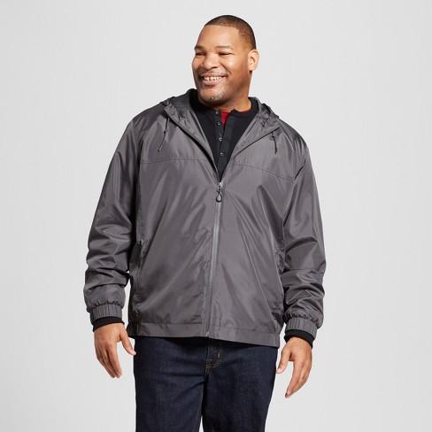 6ddb47546 Men's Big & Tall Rain Jacket - Goodfellow & Co™ Gray : Target