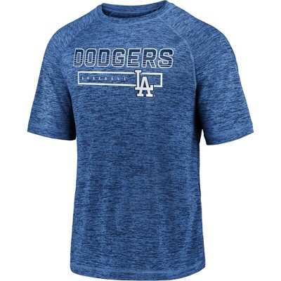 MLB Los Angeles Dodgers Men's Short Sleeve Striated Athleisure T-Shirt