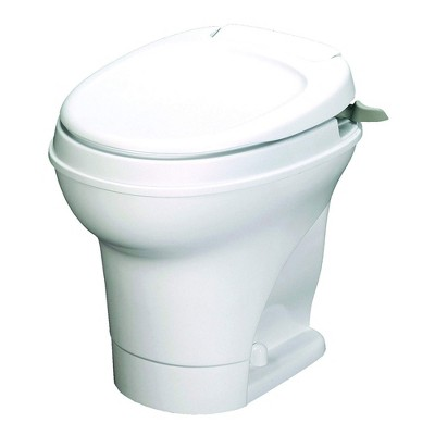 Thetford 31667 Aqua Magic V Hand Flush RV Recreational Vehicle Toilet, White