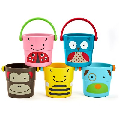 Skip Hop Stack Pour Buckets Bath Toy Multicolor - 5Pc