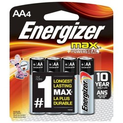 Energizer Max AA Batteries 4 ct