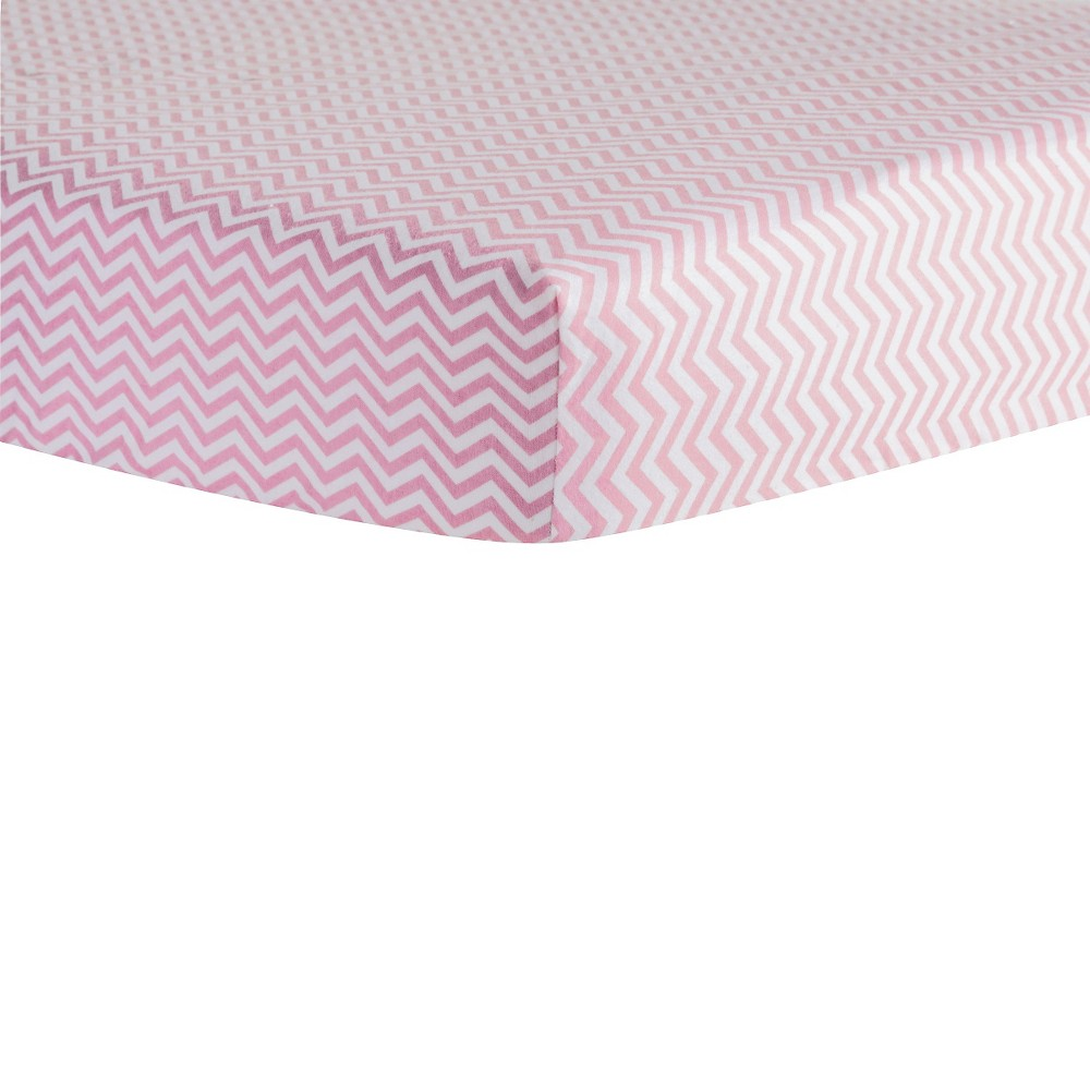 Trend Lab Pink Chevron Flannel Crib Sheet