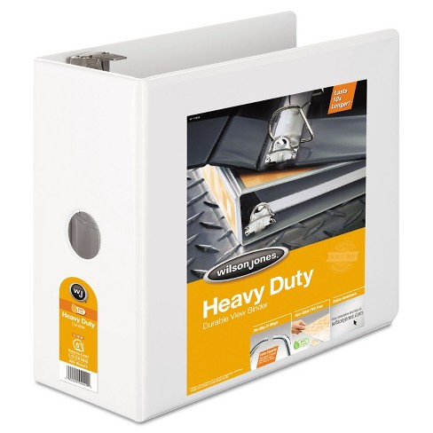 "Wilson Jones Heavy-Duty D-Ring View Binder w/Extra-Durable Hinge 5"" Cap White 38550W - image 1 of 2"