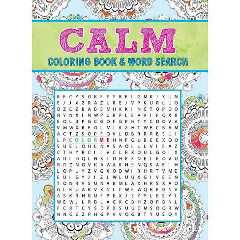 Calm Coloring Book & Word Search (Paperback) - image 1 of 1