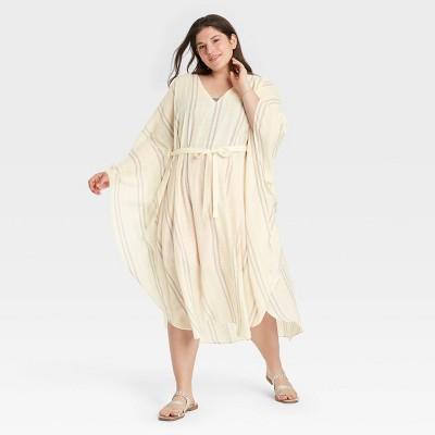 Women's Stripe Tunic - A New Day™ Tan