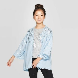 Girls' Frozen Elsa Cape - Blue XS/S