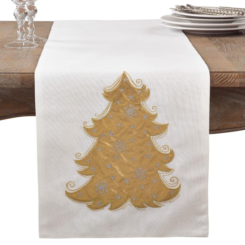 White Tree Table Runner - Saro Lifestyle