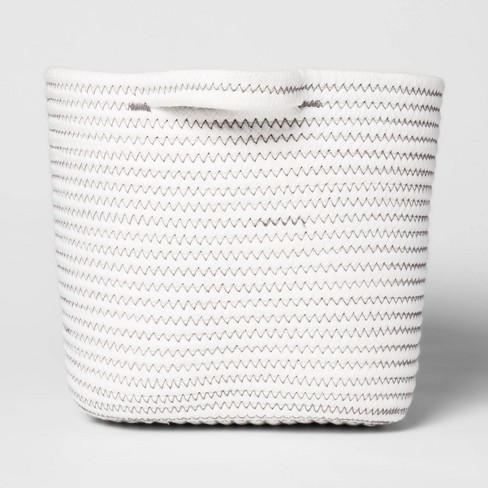 Bath Basket Medium Crate Off White - Threshold™ - image 1 of 4