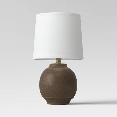 Antique Textural Ceramic Accent Lamp (Includes LED Light Bulb)Brown - Threshold™