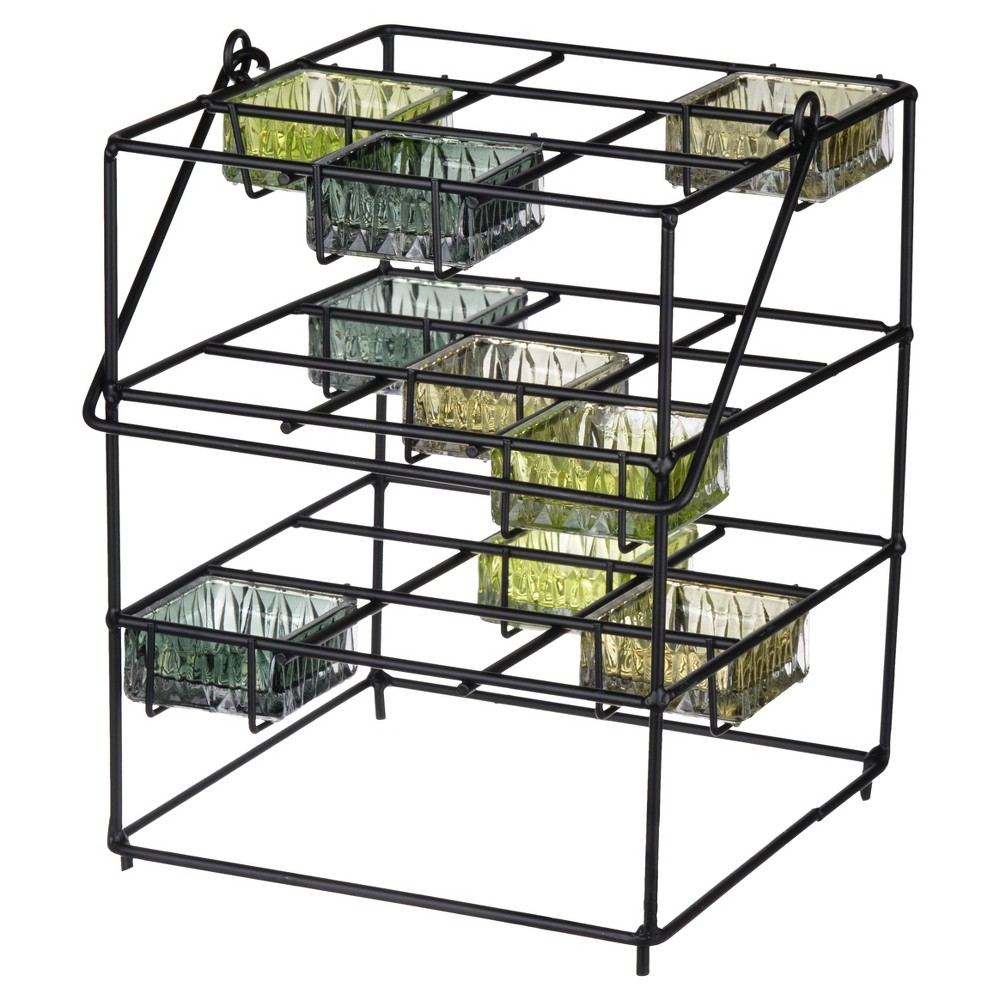 Image of Jurupa 3-Tier Candle Stand Black - A&b Home