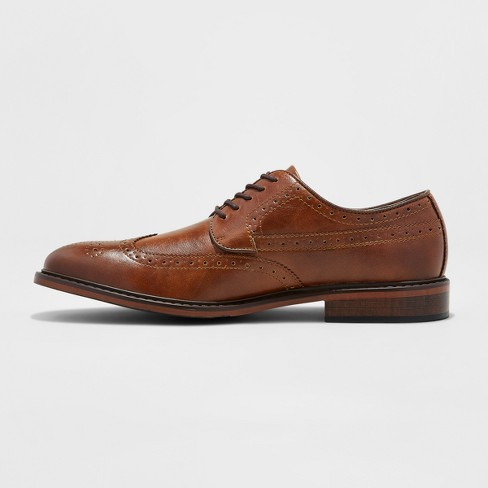 eafada453dc7f Men s Jaylen Wingtip Dress Shoe - Goodfellow   Co™ Tan 8   Target