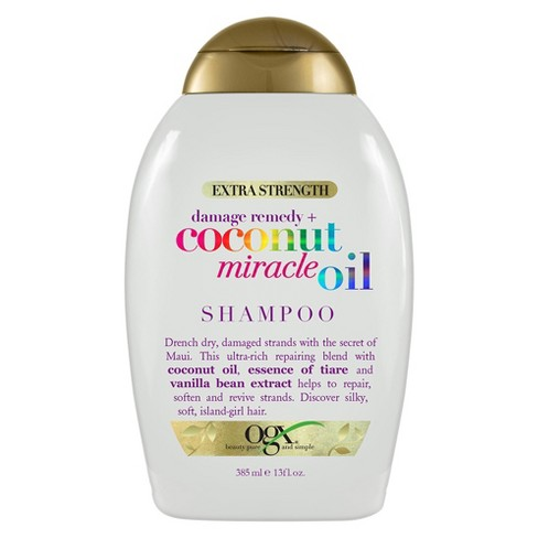 OGX Extra Strength Damage Remedy + Coconut Miracle Oil Shampoo for Dry, Frizzy, or Coarse Hair - 13 fl oz - image 1 of 3