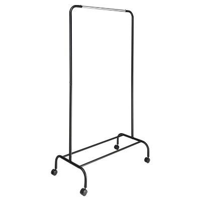 Single Bar Garment Rack Black/Silver - Room Essentials™