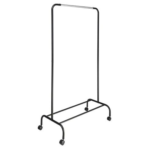 Single Bar Garment Rack Black/Silver - Room Essentials™ - image 1 of 2