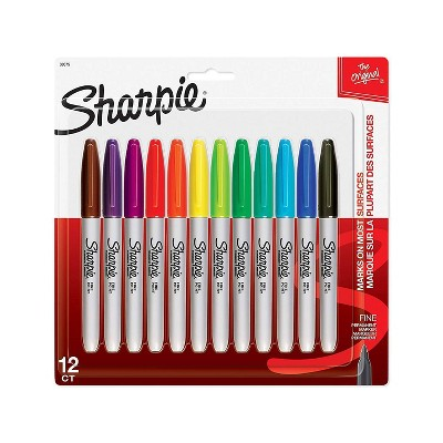 Sharpie Fine Tip Permanent Markers Multicolor