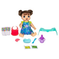 Baby Alive Happy Hungry Baby Doll - Brunette Hair