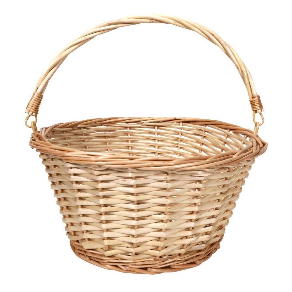 "Image of ""12"""" Willow Easter Basket Light Natural - Spritz"""
