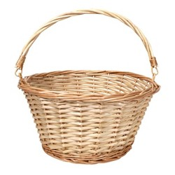 "12"" Willow Easter Basket Light Natural - Spritz™"