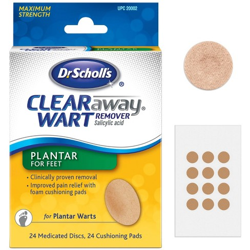 Dr Scholl S Clear Away Wart Remover Plantar For Feet 24 Medicated Discs And 24 Pads Target