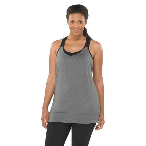 C9 Champion® Women's Plus Size Layered Tank Top with Bra - Black 4X - image 1 of 1
