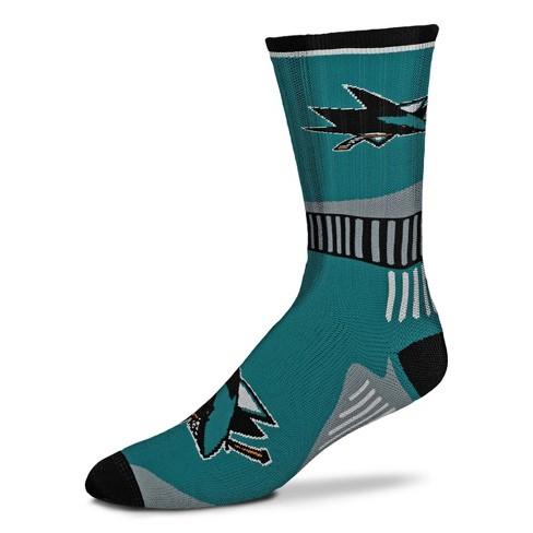 NHL San Jose Sharks Sport Big Crew Sock - image 1 of 1