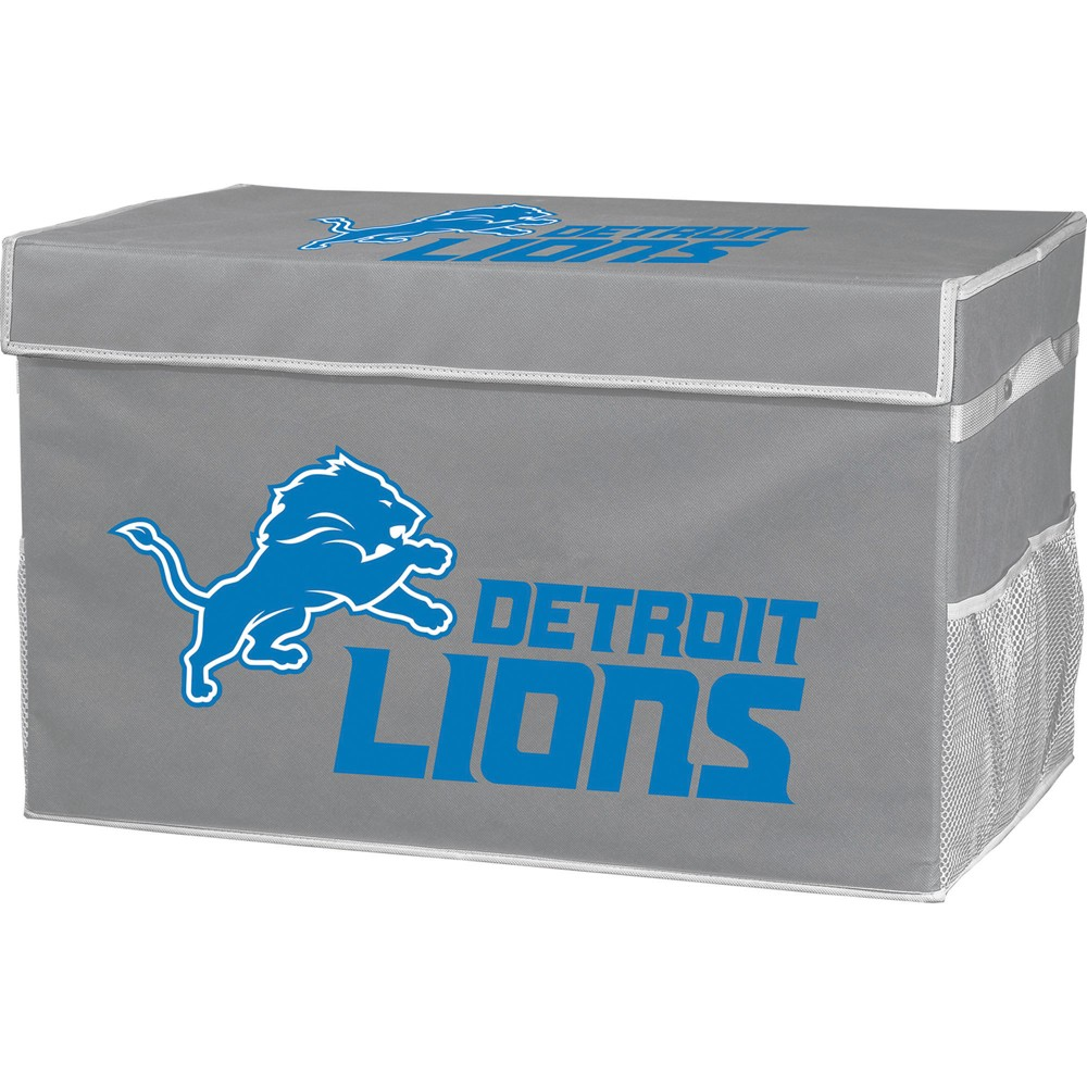 NFL Franklin Sports Detroit Lions Collapsible Storage Footlocker Bins - Small, Multicolored