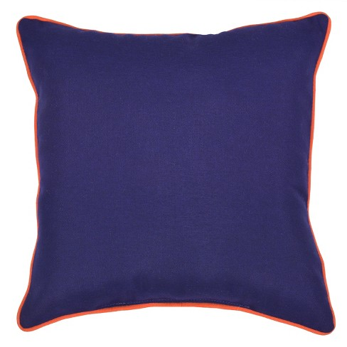 Outdoor Throw Pillow Square - Navy/Orange - Threshold™ - image 1 of 2