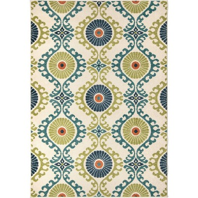 Orian Rugs Floating Floral Promise Indoor/Outdoor Area Rug (5'2  x 7'6 )