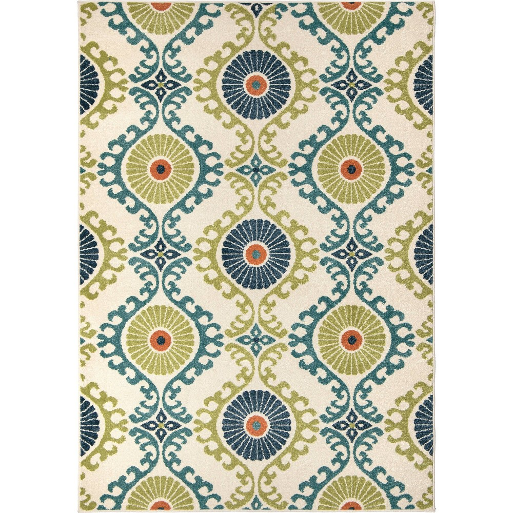 Orian Rugs Floating Floral Promise Indoor/Outdoor Area Rug (7'8