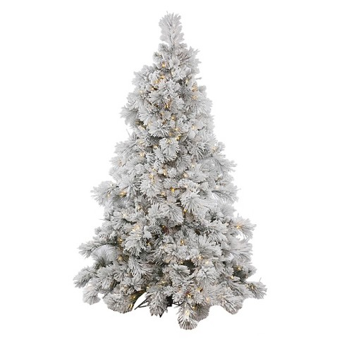 75ft flocked alberta pine cone artificial christmas tree full with white led lights